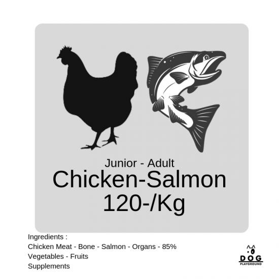 สูตรไก่ผสมแซลมอน